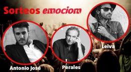 Ganadores Sorteos de entradas para Leiva, Antonio José y Perales